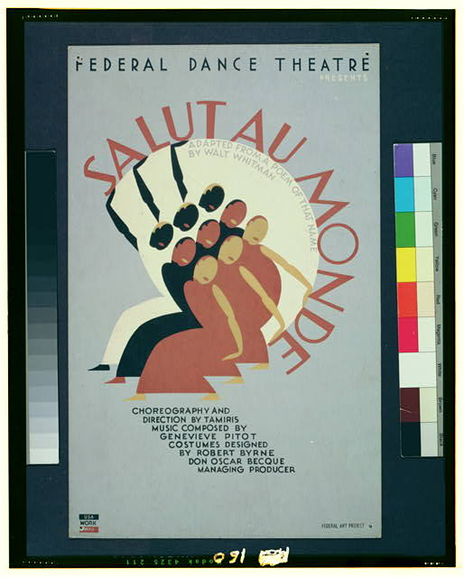 Federal Dance Theatre presents Salut au monde adapted from a poem of that name by Walt Whitman.