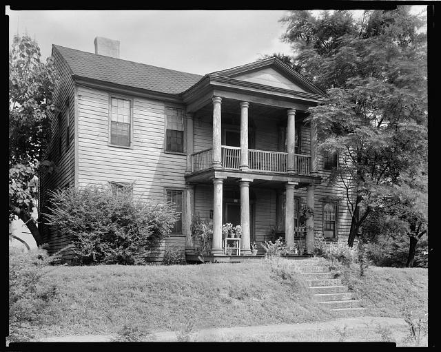Golding - Gerdine House, Columned Porch, Athens, Clarke County, Georgia