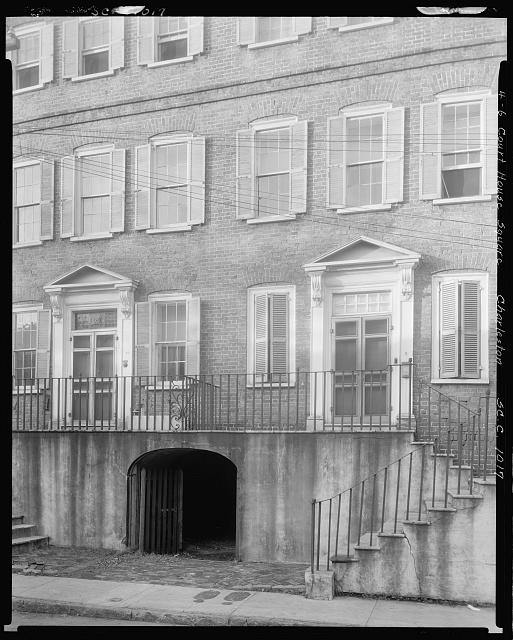Daniel Blake Tenements, 4-6 Court House Square at Broad, Charleston, Charleston County, South Carolina