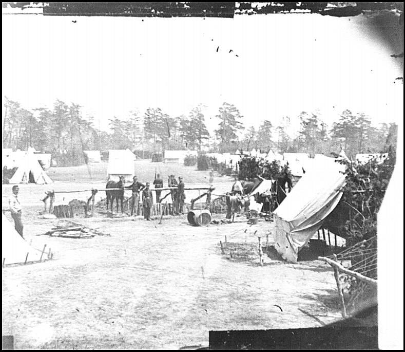 [Yorktown, Va., vicinity. Headquarters of Gen. George B. McClellan, Camp Winfield Scott]