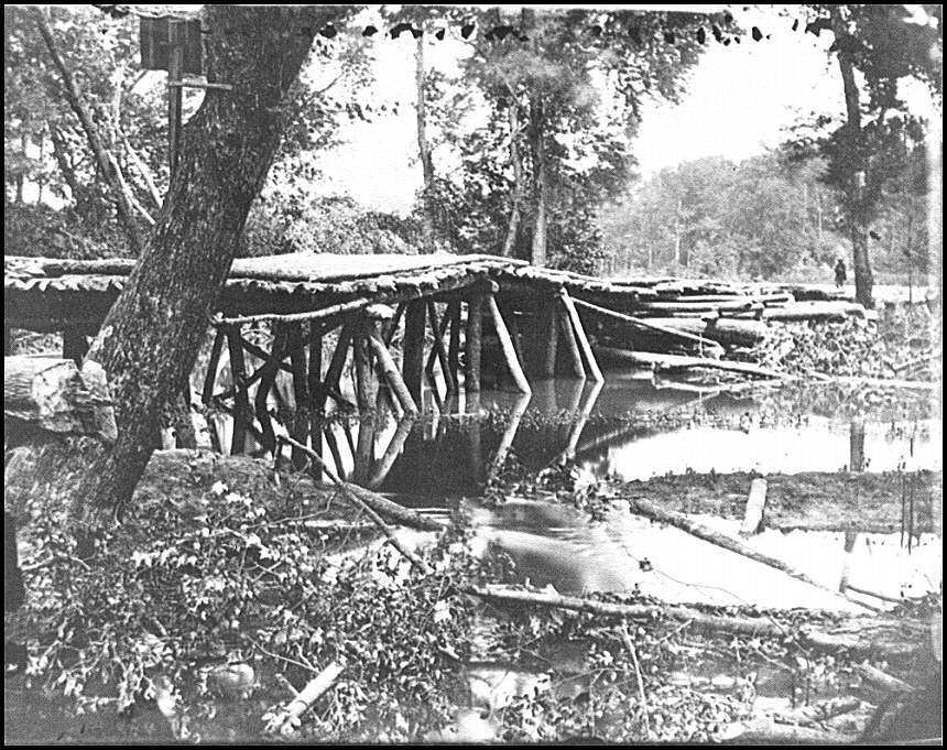 [Chickahominy River, Va. Military bridge built by the 15th New York Volunteers under Col. John McL. Murphy]