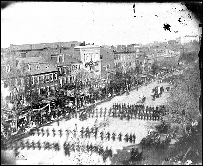[Washington, D.C. President Lincoln's funeral procession on Pennsylvania Avenue; another view]