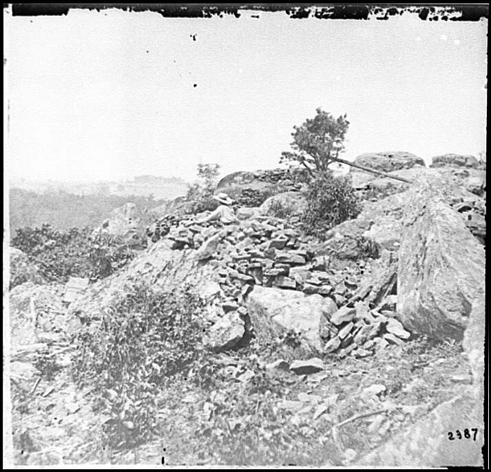 [Gettysburg, Pa. Breastworks on left wing of the Federal line]
