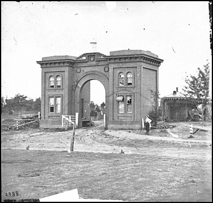 [Gettysburg, Pa. The cemetery gatehouse]