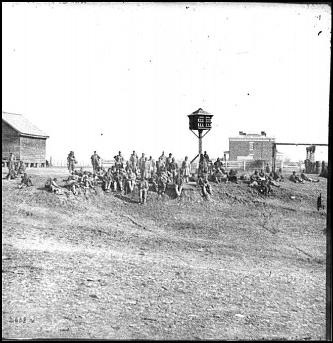 [Aiken's Landing, Va.  African-American soldiers resting near the Aiken house, view looking toward the house]