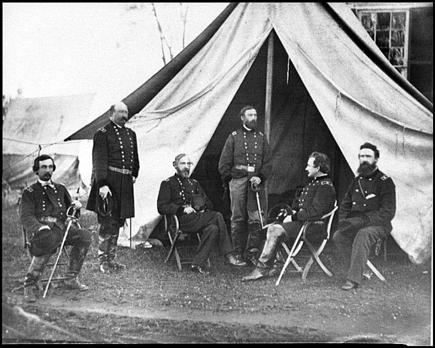 [Culpeper, Va. Generals of the Army of the Potomac: Gouverneur K. Warren, William H. French, George G. Meade, Henry J. Hunt, Andrew A. Humphreys, George Sykes]