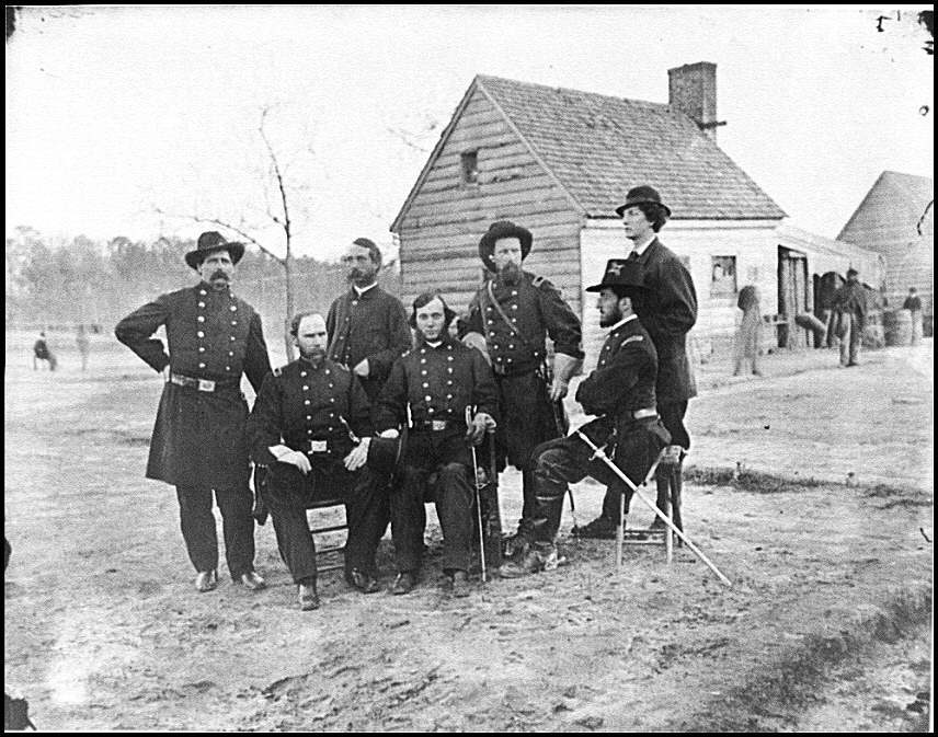 [Fort Harrison, Va. Group of surgeons of the Army of the James]