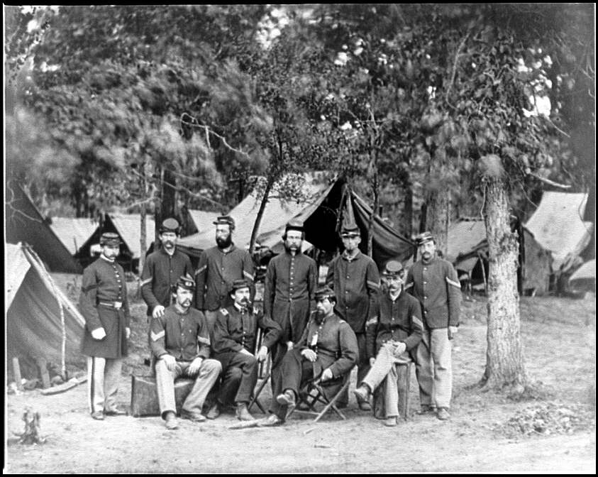 [Bealeton, Va. Officers and noncommissioned officers of Co. D, 93d New York Infantry]