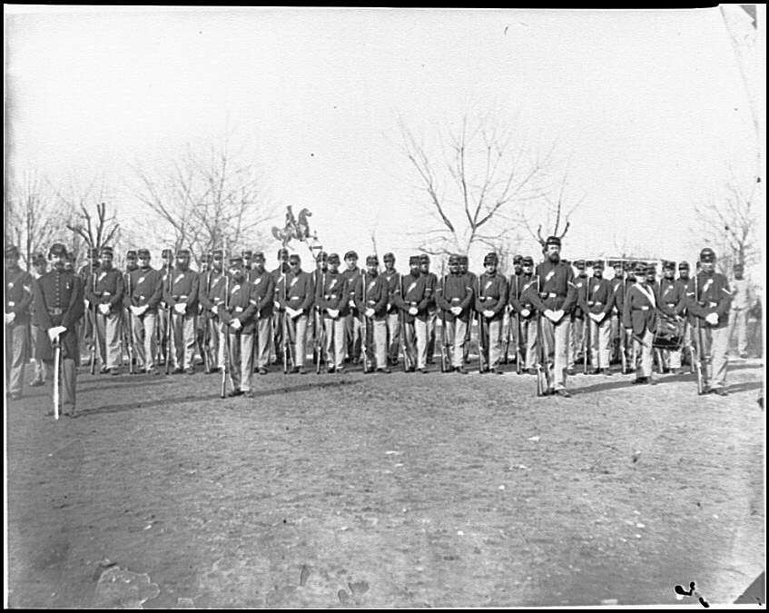 [Washington, D.C. Company I, 9th Veteran Reserve Corps, at Washington Circle]