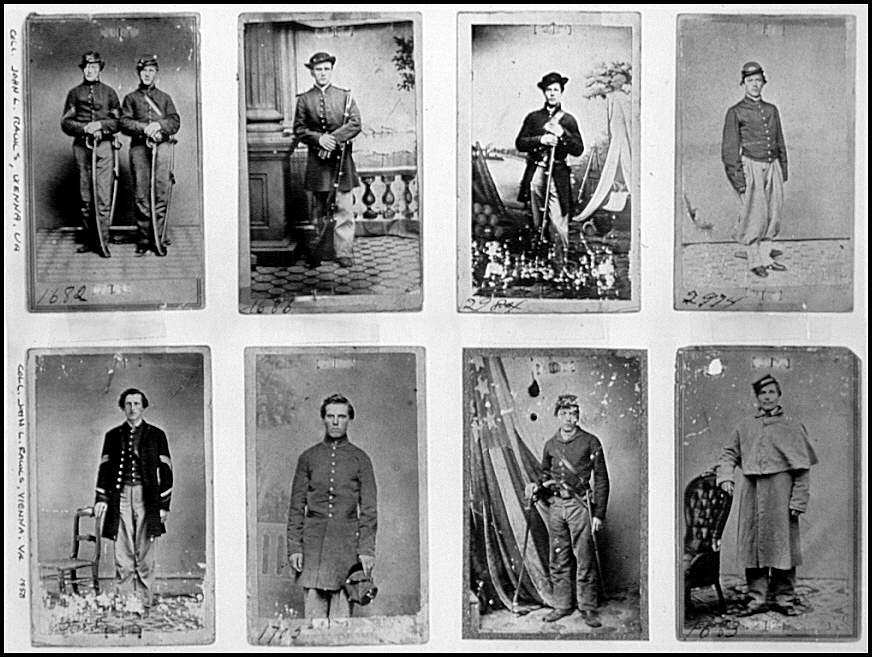 [Portraits of a group of unidentified Federal soldiers]