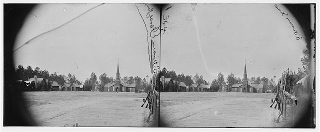 Petersburg, Virginia (vicinity). Church and camp of the 50th New York Engineers