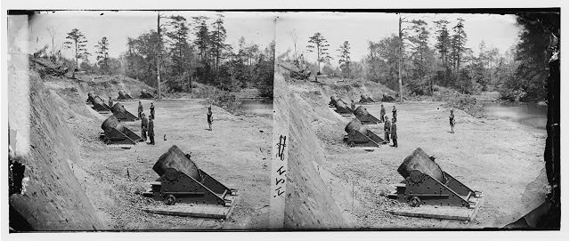 Yorktown, Virginia. 13-inch seacoast mortars of Federal Battery No. 4