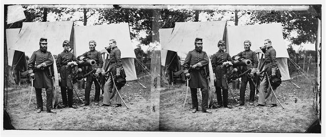 [Fair Oaks, Va., vicinity. Capt. James M. Robertson (third from left) and officers]