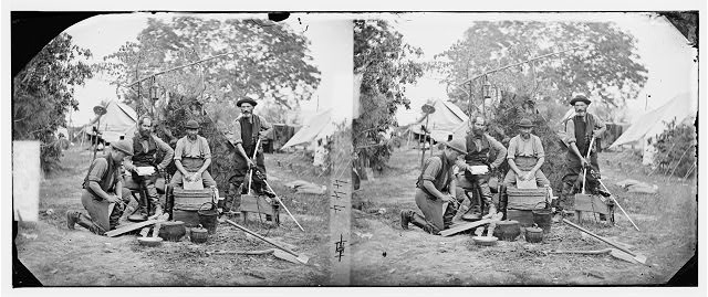 [Yorktown, Virginia (vicinity)]. Servants at Prince de Joinville's quarters
