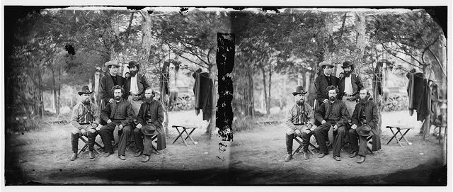 [Harrison's Landing, Va. Group of the Irish Brigade]