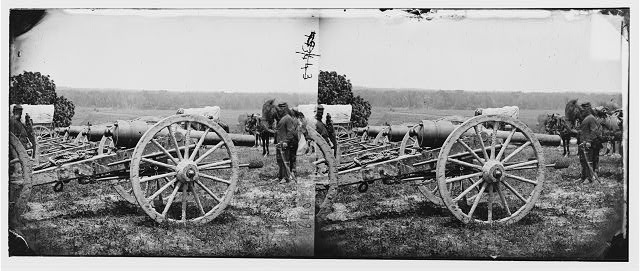 [Richmond, Va., vicinity. 20-pdr guns of the 1st New York Battery, unlimbered]