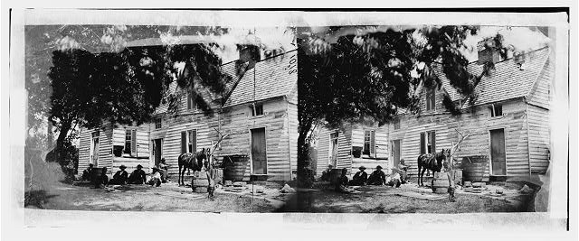 Washington, District of Columbia. House near Fort Stevens showing effect of shot fired during Early's attack on Washington, July 12, 1864