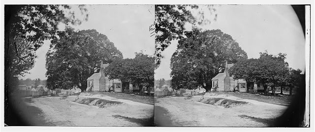 View of road and house