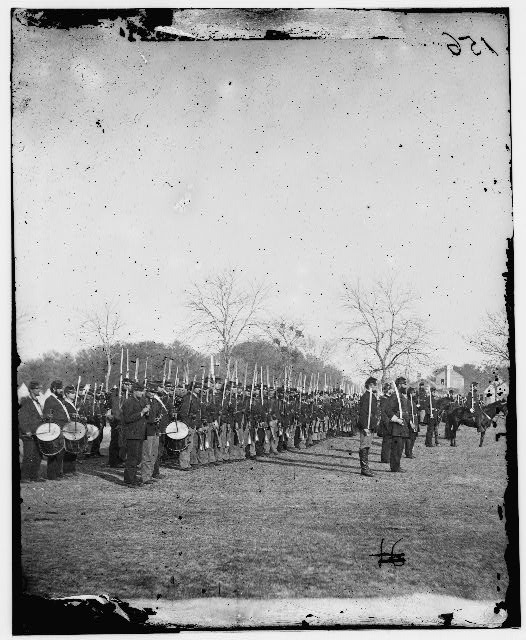 [Beaufort, S.C. 50th Pennsylvania Infantry in parade formation]