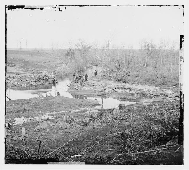 [Cub Run, Va.  View with destroyed bridge]