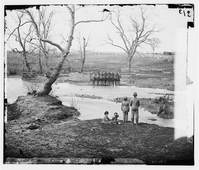 [Bull Run, Va. Federal cavalry at Sudley Ford]
