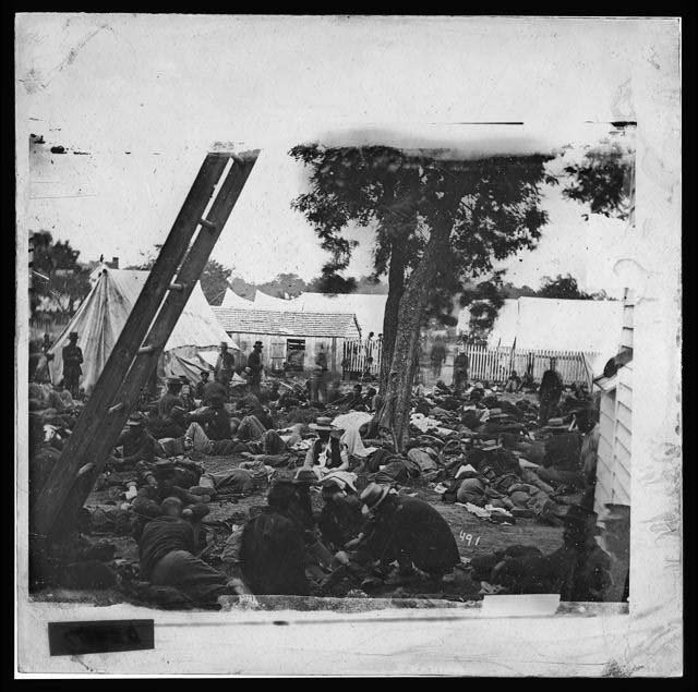 [Savage Station, Va. Field hospital after the battle of June 27]