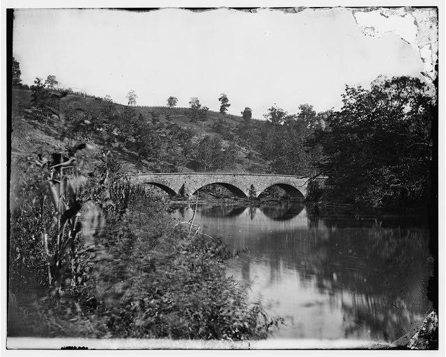 Antietam, Maryland. Antietam Bridge, looking down stream