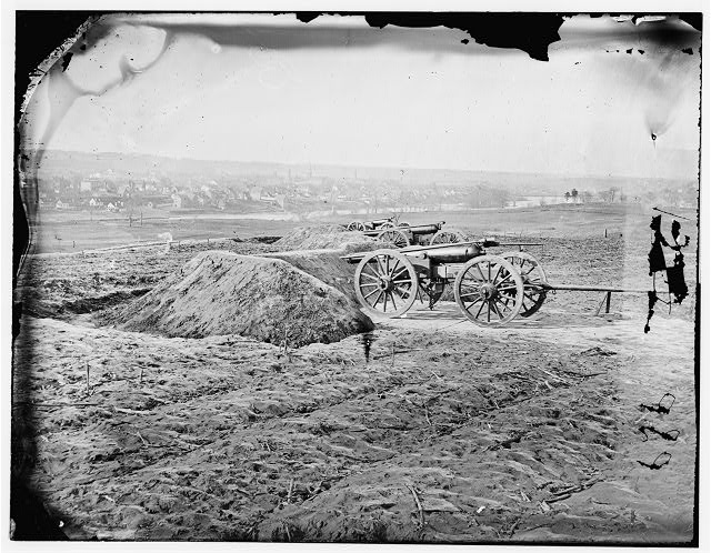 Fredericksburg, Virginia. View of town from Tyler's Battery