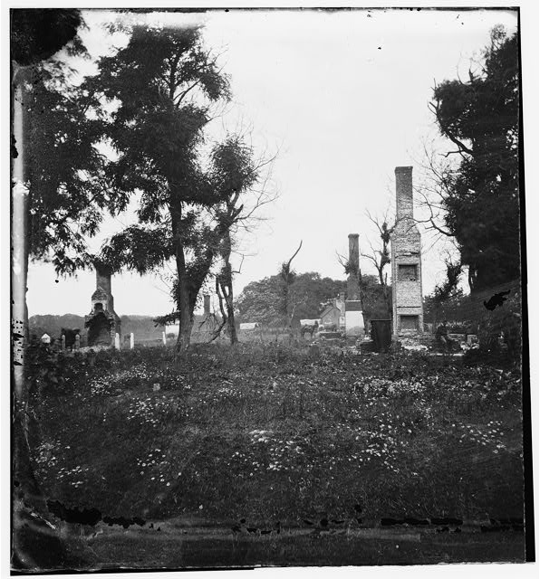 [Charles City Court House, Va. Ruins of houses]