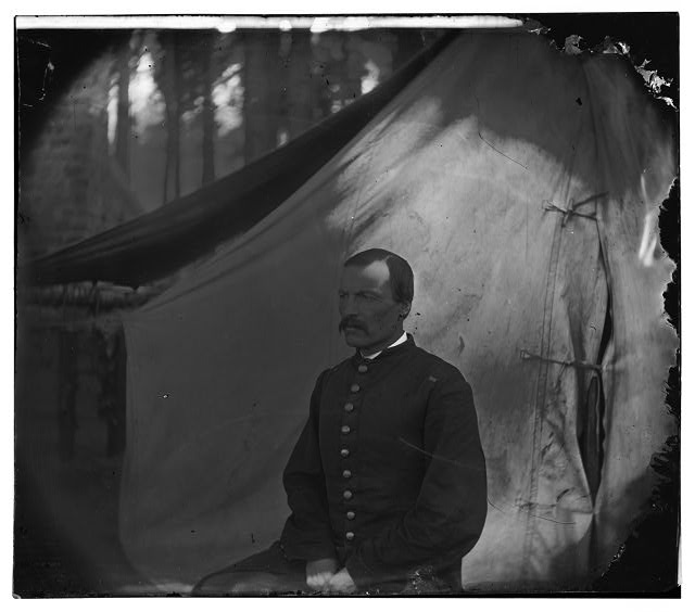 Petersburg, Virginia. Soldier seated before tent