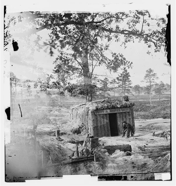 "[Petersburg, Va. Sutler's bomb-proof ""Fruit and Oyster House""]"