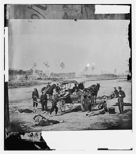 Ambulance Corps. Method of removing wounded from the field
