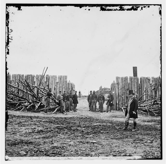 Arlington, Virginia. Rear entrance, Fort Corcoran