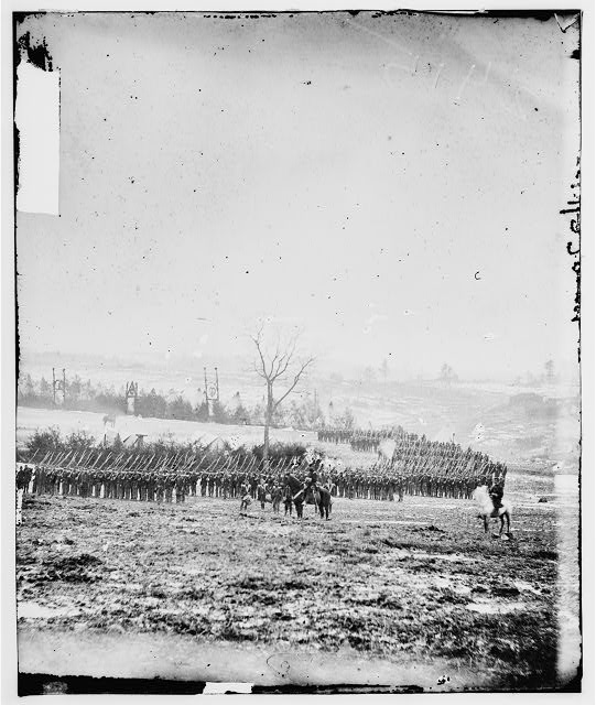 Miners Hill, Virginia. Review of 17th New York Inf. (vicinity, Falls Church) (Westchester Chosseurs)