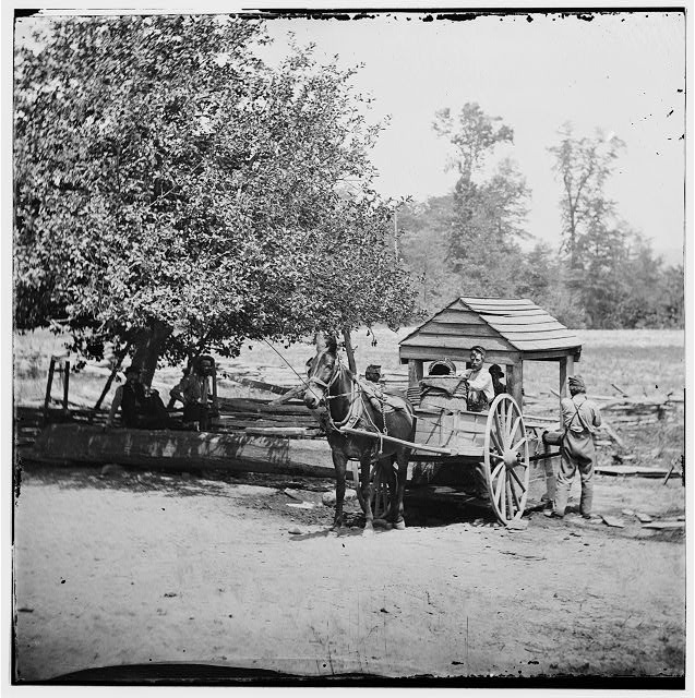Fredericksburg, Virginia. Soldiers filling water cart. Army of the Potomac