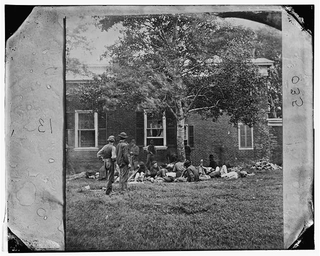 [Fredericksburg, Va. Wounded from the Battle of the Wilderness]