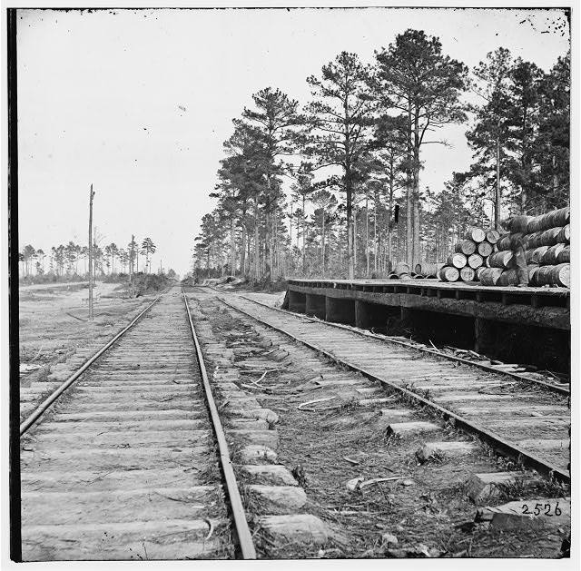 Cedar Level Station, Virginia. Station on City Point Railroad