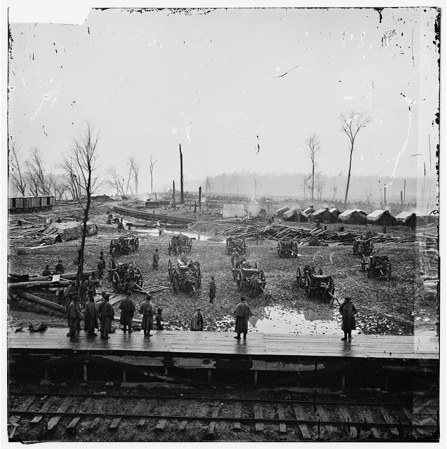 [Johnsonville, Tenn. Camp of Tennessee Colored Battery]