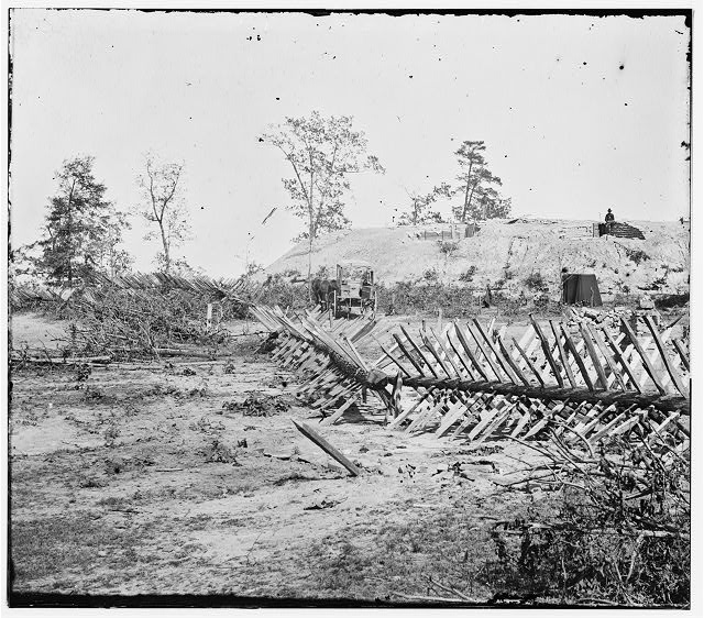 Atlanta, Georgia. Confederate fortifications. (shown is [Barnard's] wagon and portable darkroom)