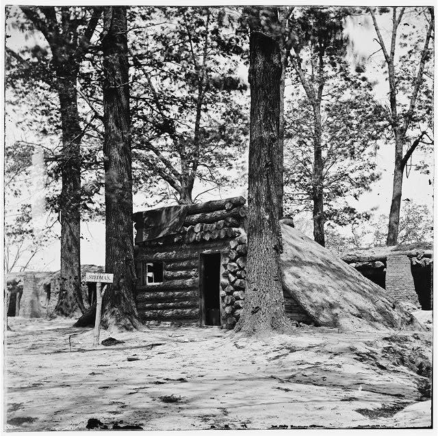 Petersburg, Virginia. Bomb-proof at Fort Stedman