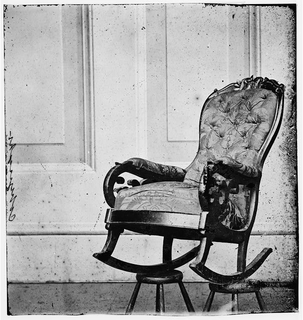 Washington, District of Columbia. Chair occupied by Lincoln when assassinated