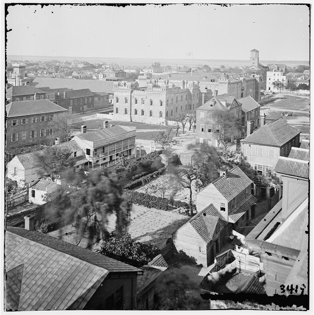 [Charleston, S.C. View, from roof of Orphan Asylum; The Citadel in middle distance]