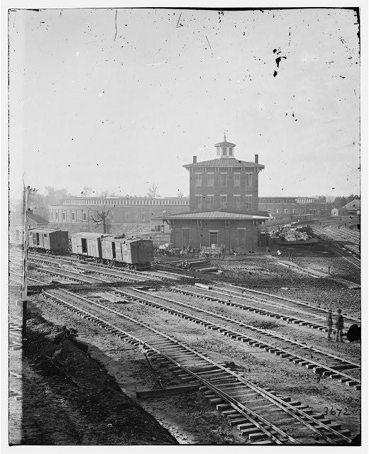 Atlanta, Georgia. Railroad roundhouse
