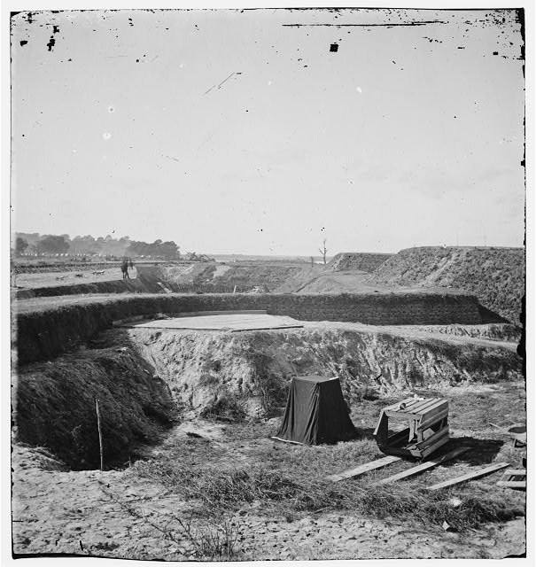 Savannah, Georgia (vicinity). View of Fort McAllister and Cooley's photographic tent