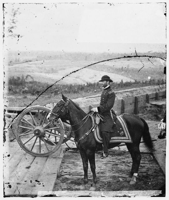 [Atlanta, Ga. Gen. William T. Sherman on horseback at Federal Fort No. 7]