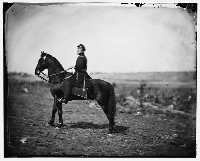 Falmouth, Virginia. Gen. Marsena R. Patrick seated on horse