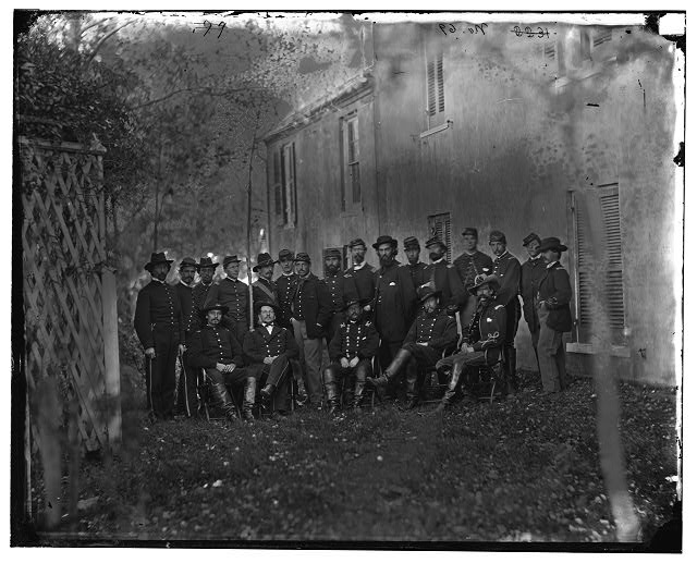 Warrenton, Virginia. Gen. Alfred Pleasonton and staff