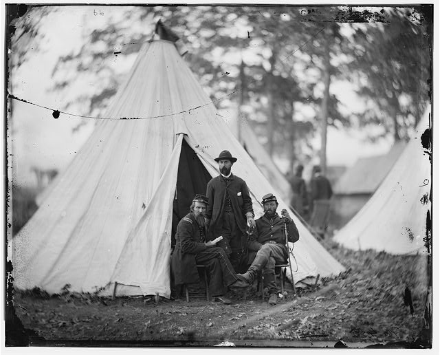 [Warrenton, Va. Maj. Charles J. Whiting, Capt. James E. Harrison, and Capt. Wesley W. Owens of the 5th U.S. Cavalry]