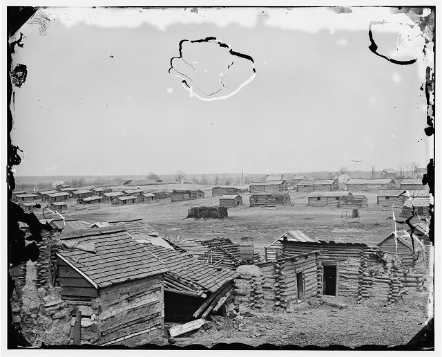 [Centreville, Va. Confederate winter quarters, south view]