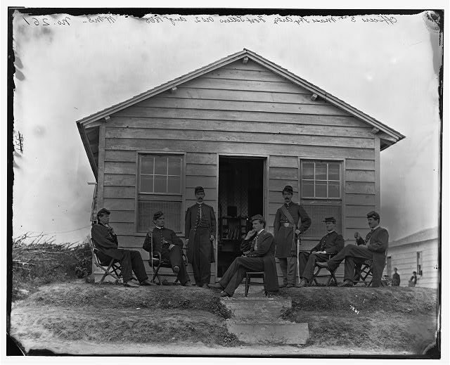 Washington, District of Columbia. Officers of 3d Regiment Massachusetts Heavy Artillery at Fort Totten